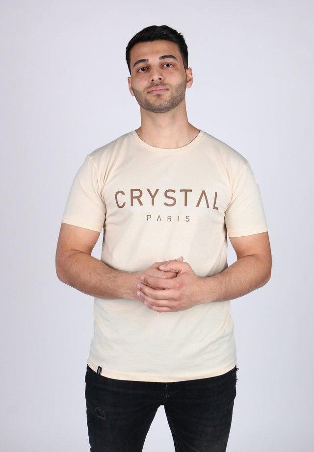 BASIC - Print T-shirt - whitesand
