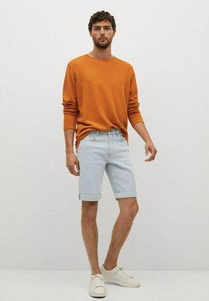 ROCK - Denim shorts - azul bleach