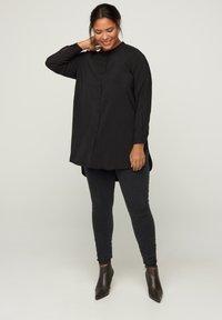 Zizzi - Button-down blouse - black - 1