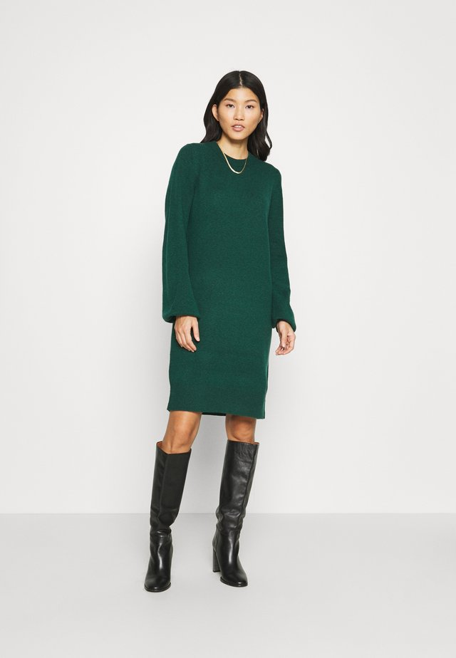 FITTED PUFFY - Jumper dress - dark teal green