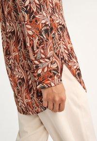 comma - LONG - Button-down blouse - black paisley - 3