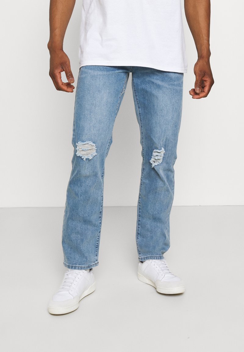 Mennace - ON THE RUN DISTRESSED - Relaxed fit jeans - blue