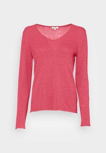 BASIC V-NECK - Trui - cozy pink