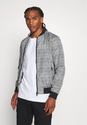 RHODES - Bomber Jacket - grey check