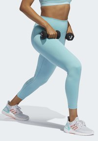 adidas Performance - BELIEVE THIS 2.0 PRIMEBLUE 7/8 LEGGINGS - Tights - blue - 3