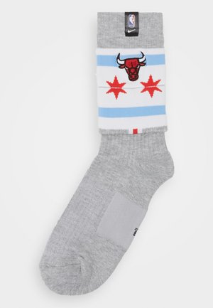 NBA CHICAGO BULLS SNEAKER SOXS CREW - Calze - dark grey heather/white//white