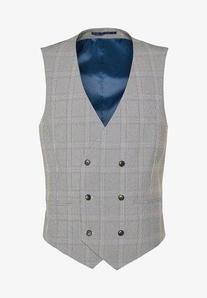 GRAPHIC CHECK - Suit waistcoat - grey
