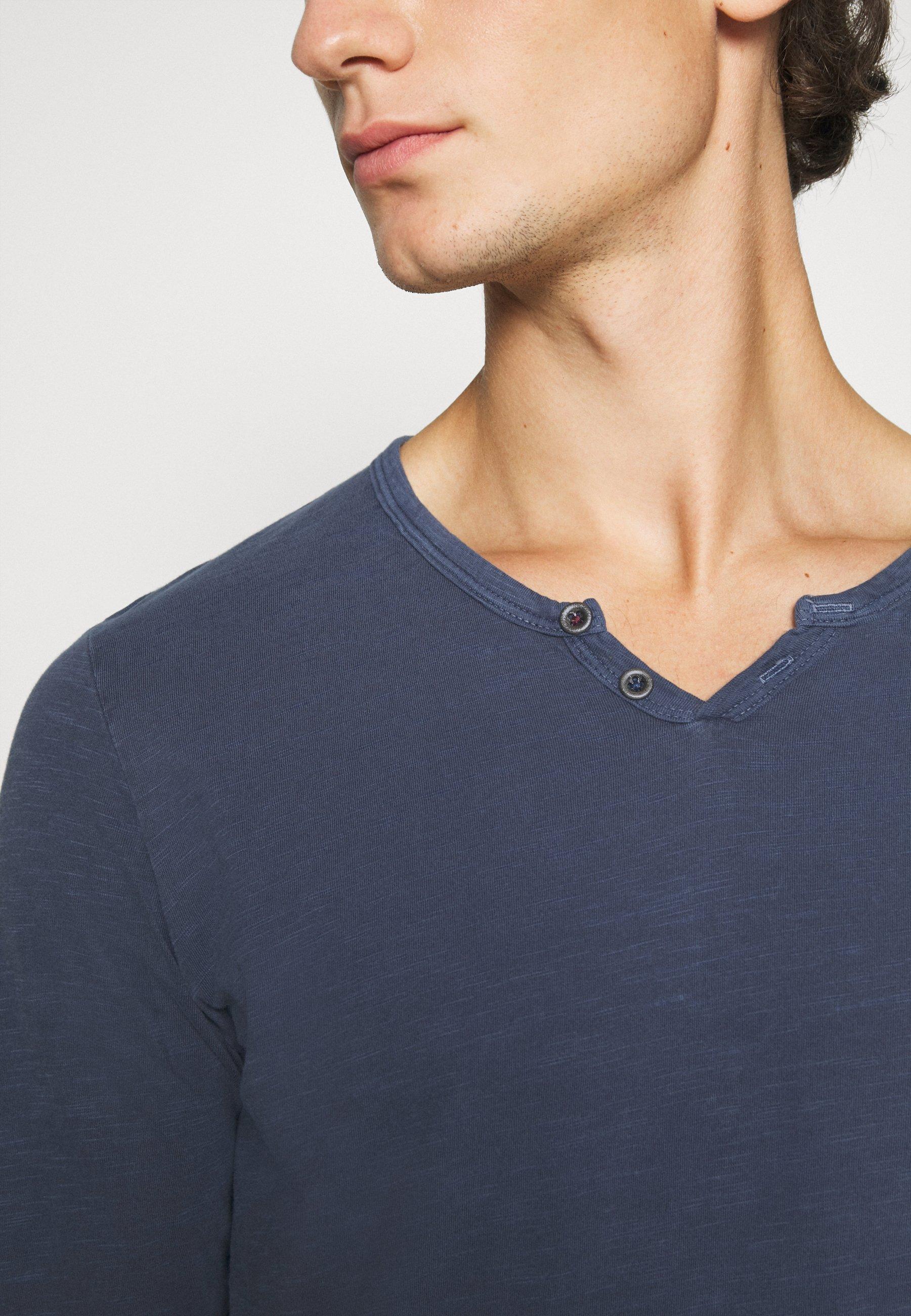 Uomo JJESPLIT NECK TEE - Maglietta a manica lunga