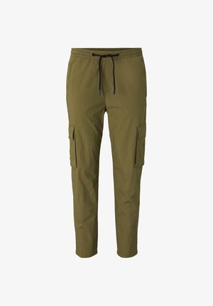 TOM TAILOR DENIM HOSEN & CHINO CARGO JOGGINGHOSE - Träningsbyxor - faded moss green