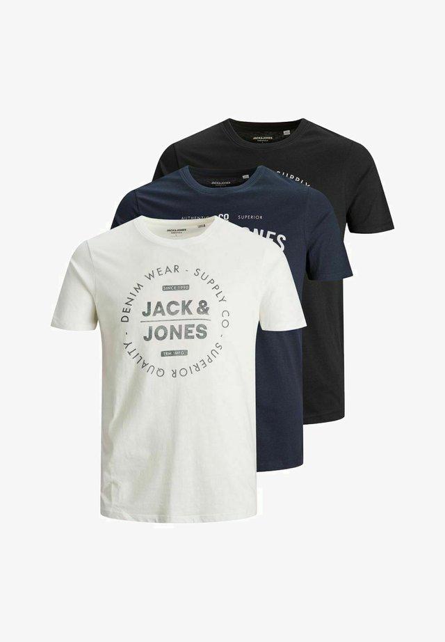3 PACK - T-shirt imprimé - cloud dancer