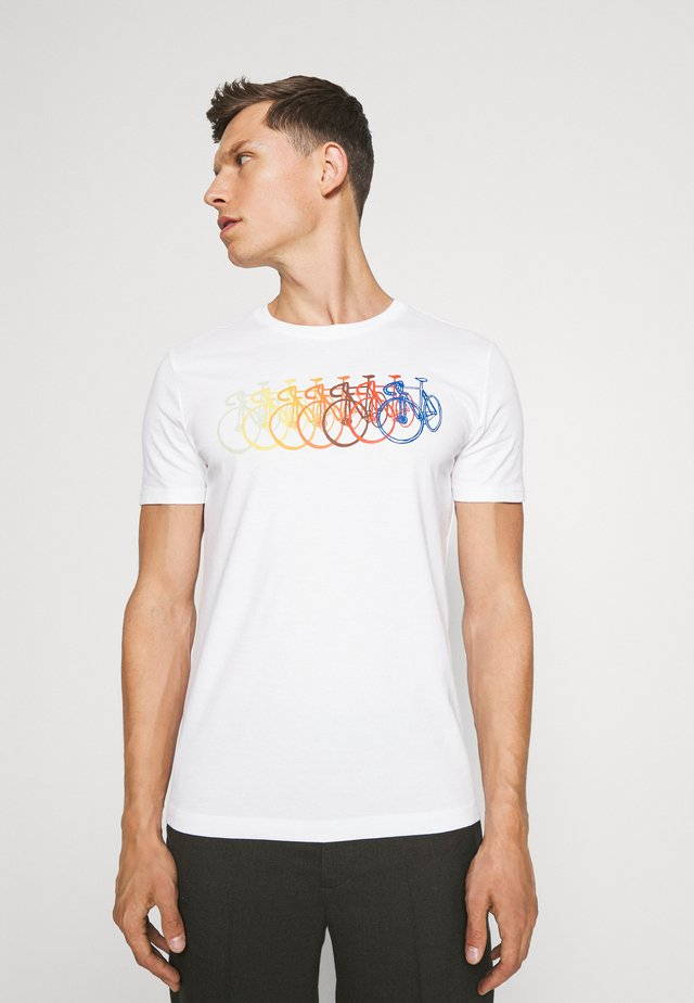 I MULTICOLOR BIKES - ECO GRAPHIC TEE - T-shirt con stampa - white