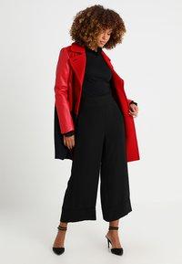 Rich & Royal - SLUB FRILL - Long sleeved top - black - 1