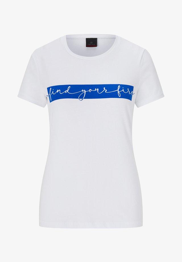 SAMBA - T-shirt imprimé - weiß/blau