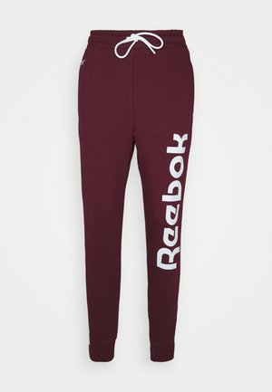 LINEAR LOGO PANT - Tracksuit bottoms - maroon