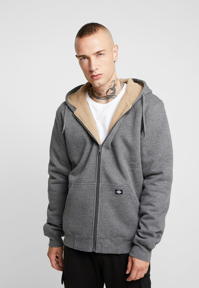 FRENCHBURG - Zip-up hoodie - dark heather
