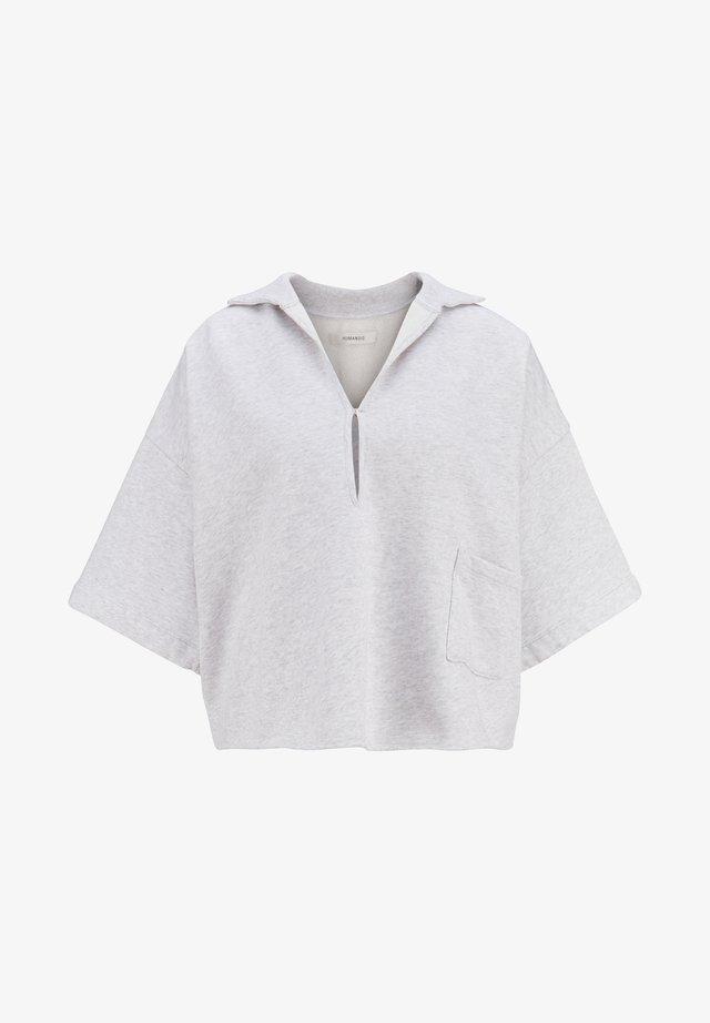 Polo shirt - birch heather