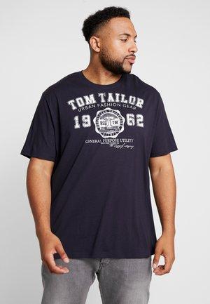 LOGO TEE - T-shirt imprimé - navy blue