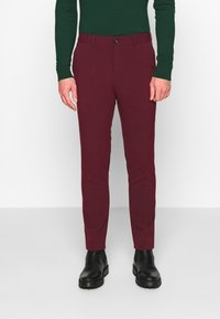 Lindbergh - DOUBLE BREASTED SUIT - SLIM FIT - Completo - bordeaux - 4