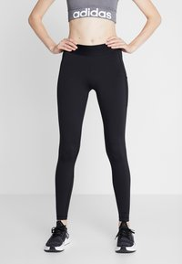 adidas Performance - ASK LONG - Leggings - black/white - 0