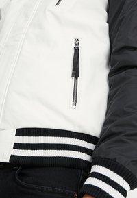 Be Edgy - BESASCHA - Leather jacket - white/black - 3
