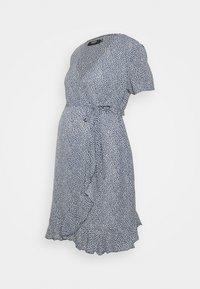 Missguided Maternity - WRAP DRESS - Day dress - blue - 3