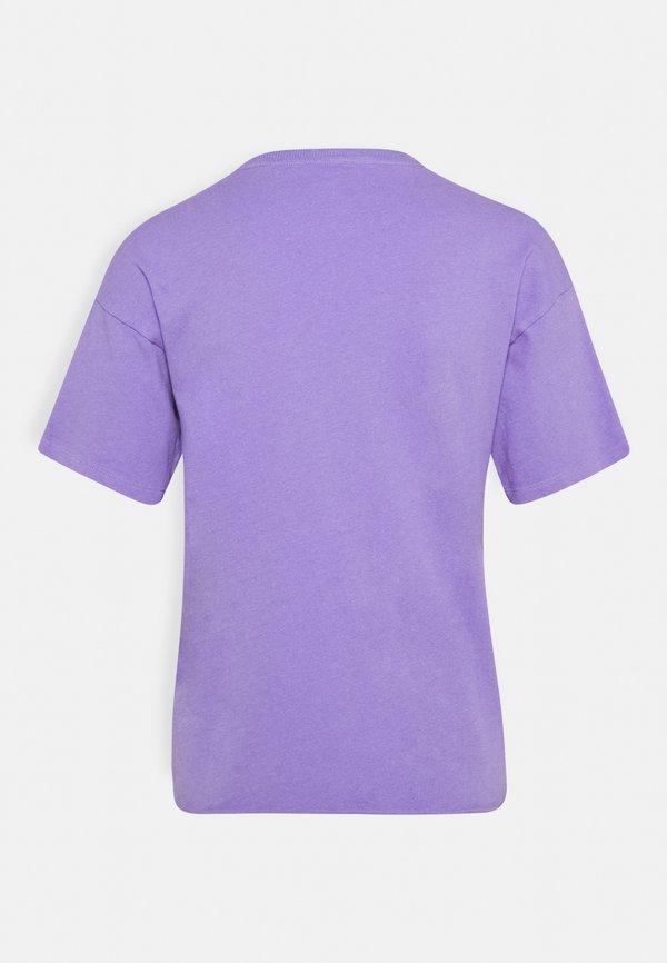 American Eagle BRANDED BRIGHTS SANTA MONICA TEE - T-shirt z nadrukiem - purple Nadruk Odzież Damska YHDT LO 1