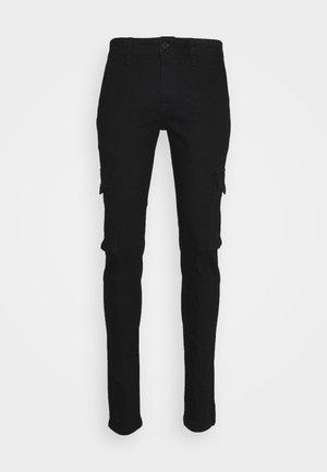 JJILIAM JJCARGO  - Cargo trousers - black denim