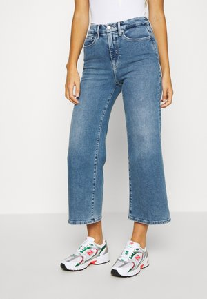 PALLAZO CROPPED - Relaxed fit -farkut - blue