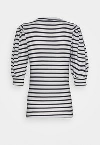 ONLY - ONLELCOS STRIPES - Print T-shirt - cloud dancer/navy - 1