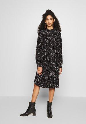 AIR MOSS - Shirt dress - black