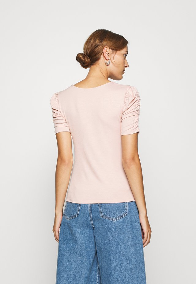 RUCHED SLEEVE TEE - Print T-shirt - blush