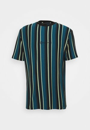 MULTI VERTICAL STRIPE - T-shirt med print - blue
