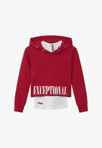 Blue Effect - GIRLS BOXY HOODIE EXCEPTIONAL 2-IN-1 - Hoodie - granatrot reactive - 0