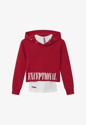 GIRLS BOXY HOODIE EXCEPTIONAL 2-IN-1 - Bluza z kapturem - granatrot reactive