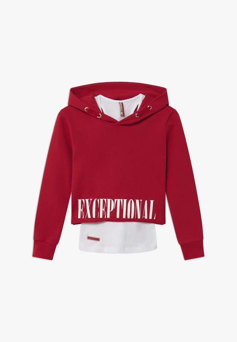 Blue Effect - GIRLS BOXY HOODIE EXCEPTIONAL 2-IN-1 - Hoodie - granatrot reactive