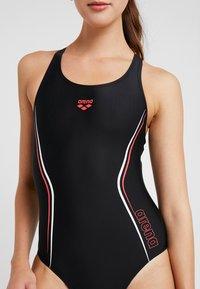Arena - STRAIGHTLINE SWIM PRO ONE PIECE - Swimsuit - black/red/white - 4
