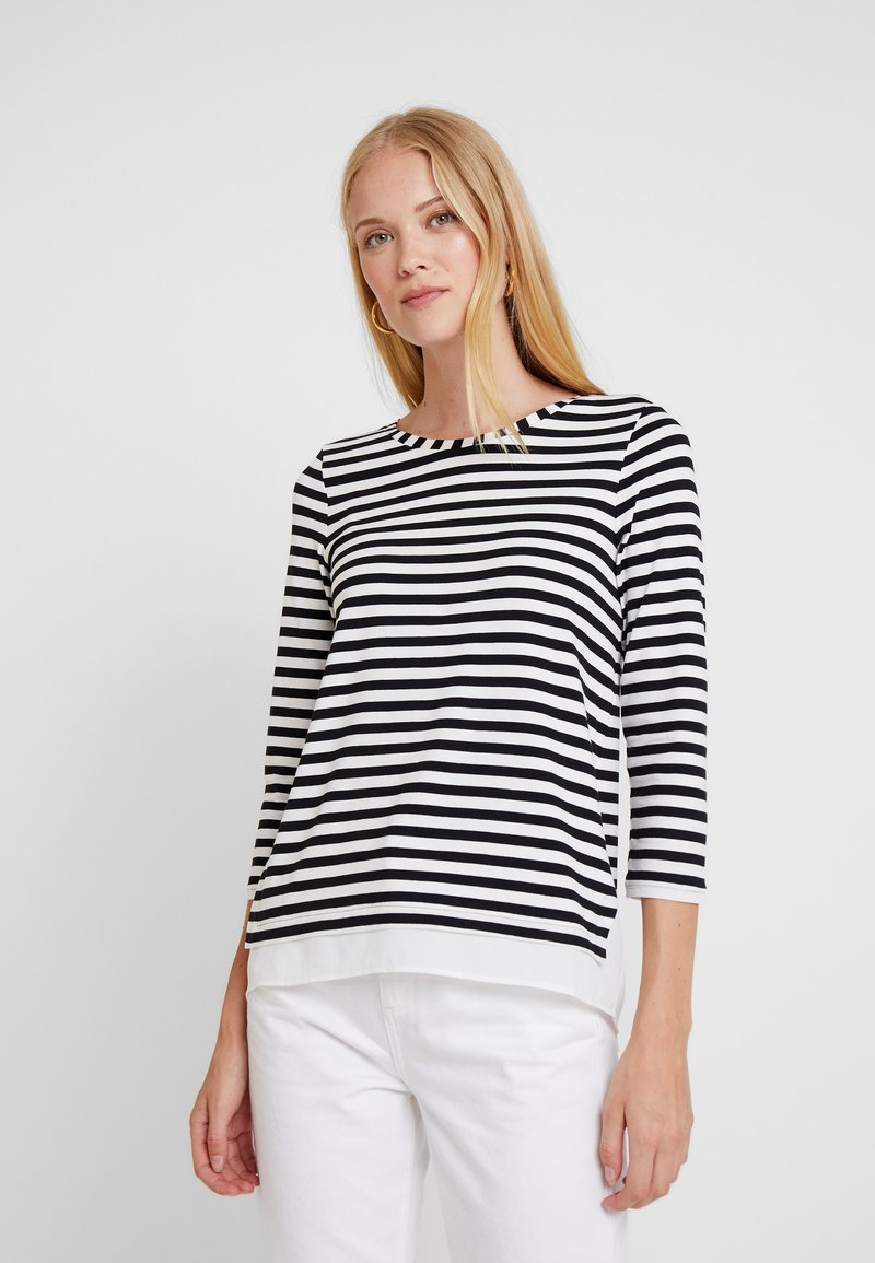 Esprit Collection - STRIPED - Long sleeved top - black