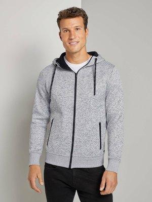 MIT INNENFUTTER - Zip-up hoodie - white grey mouline