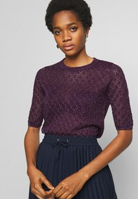 Soeur - DELON - T-shirt z nadrukiem - violet - 3