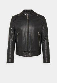 Just Cavalli - SPORTSJACKET - Leather jacket - black - 3