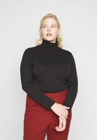 Even&Odd Curvy - 2 PACK - Long sleeved top - black - 1