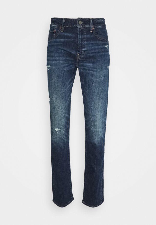 DARK DESTROY - Slim fit jeans - deep indigo