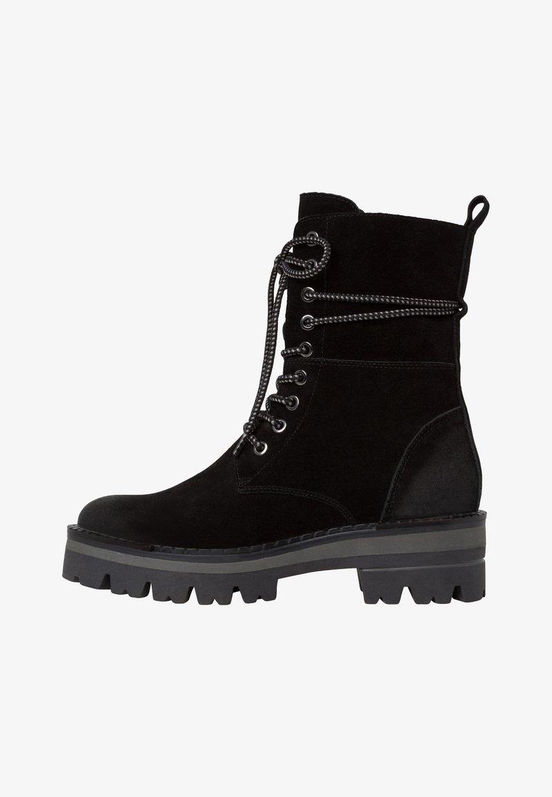 Marco Tozzi - STIEFELETTE - Kotníkové boty na platformě - black