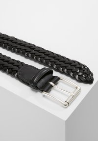 Anderson's - WOVEN BELT - Braided belt - black - 2