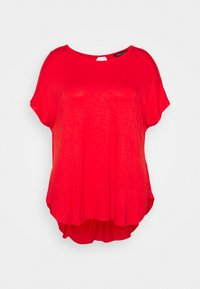 CAPSULE by Simply Be - TWIST BACK DETAIL - T-shirts - bright red - 4