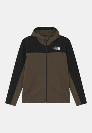 SLACKER FULL ZIP HOODIE UNISEX  - Collegetakki - green/black