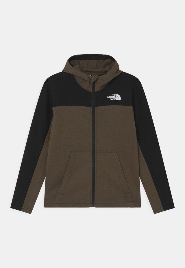 SLACKER FULL ZIP HOODIE UNISEX  - Zip-up hoodie - green/black
