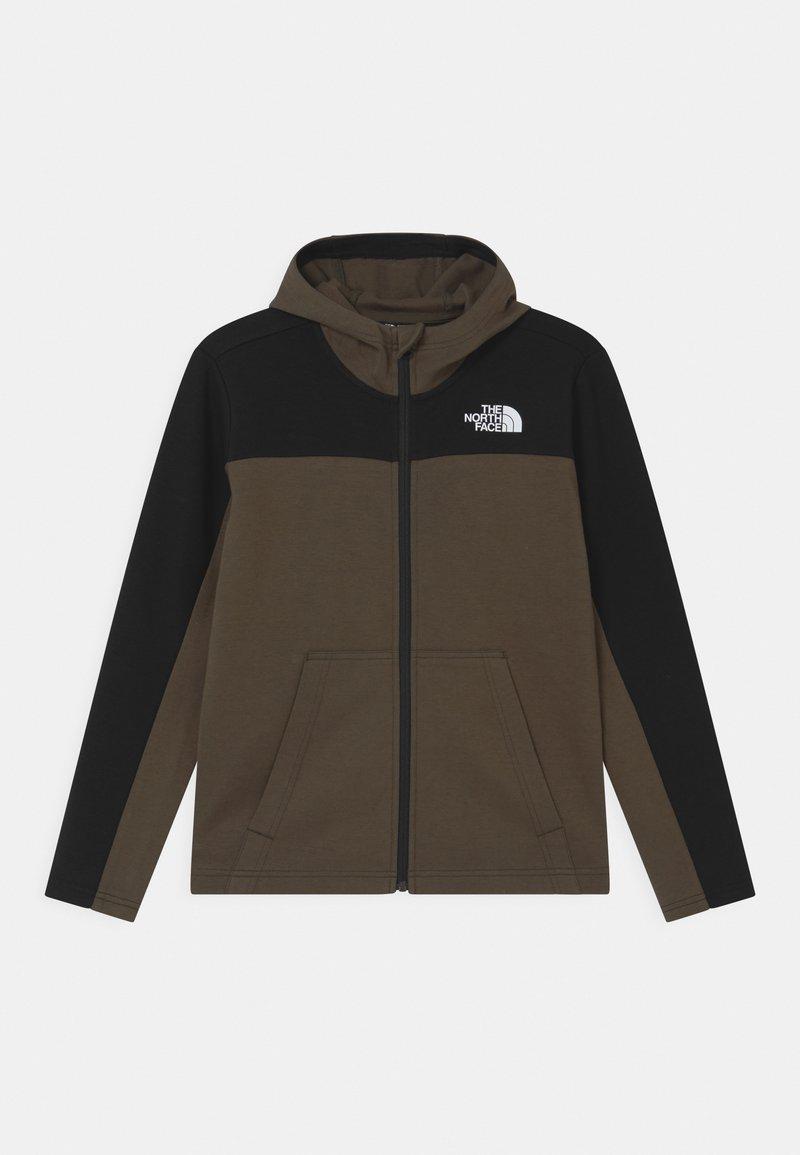 The North Face - SLACKER FULL ZIP HOODIE UNISEX  - Zip-up hoodie - green/black