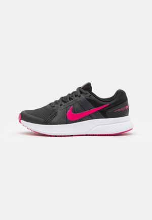 RUN SWIFT 2 - Zapatillas de running neutras - dark smoke grey/fireberry/black