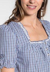 Spieth & Wensky - KAPRIO - Button-down blouse - blue/white - 2